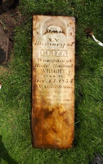 Eliza's stone cleaned up very well.