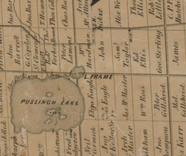 1861 Leslie map of Wellington County.